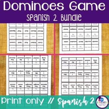 Spanish 2 Dominoes Games BUNDLE