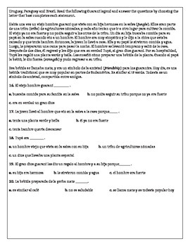 Spanish 2 Exit Exam / Spanish 3 Entrance Exam (Spanish Placement Test)