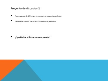 Spanish 2 Final Exam Discussion Questions