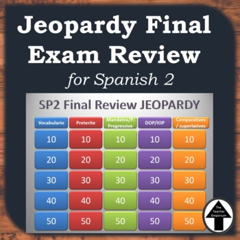 Spanish 2 Final Exam Review Jeopardy Cumulative Review Game
