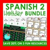 Spanish 2 Holiday Activities Bundle (Winter, Christmas Act
