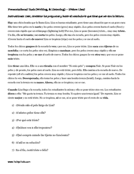 Spanish 2 - IPA Mid Term Exam