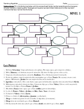 Spanish 2: La Familia Misteriosa (Level 1) Worksheet