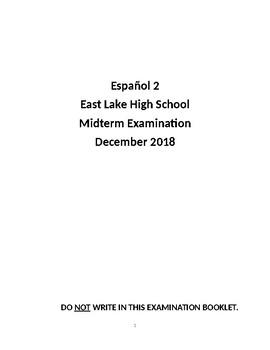 Spanish 2 Midterm Examination