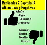 Spanish 2 Palabras Afirmativas y Negativas Realidades 2 Ch
