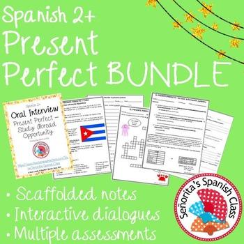 Spanish 2 - Present Perfect BUNDLE