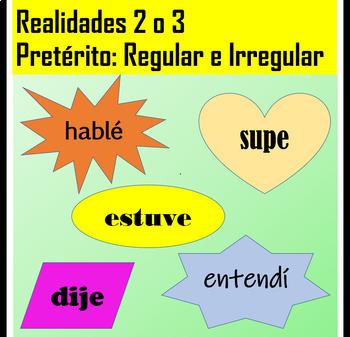 Spanish 2 Preterite Conjugation Practice: Regular and Irregular