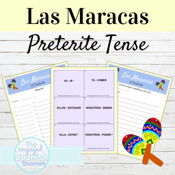 Spanish Preterite Tense / el Pretérito (REG+IRREG verbs) Maracas game