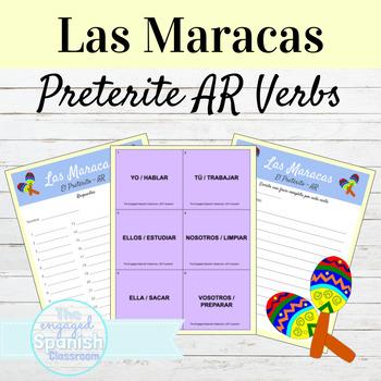 Spanish Preterite Tense, el Pretérito: Maracas Game Regular AR Preterite Verbs