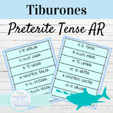 Spanish Preterite Tense AR Verbs Tiburones Game