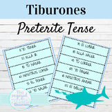 Spanish Preterite Tense Tiburones Game