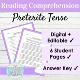 Spanish Reading Comprehension Preterite Tense