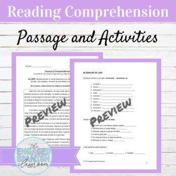 Spanish Reading Comprehension Preterite Tense