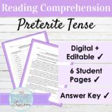 Editable Spanish Preterite Tense Reading and Activities fo