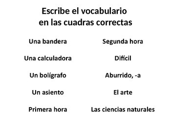 Spanish 2 Realidades 1A A ver si Vocab and Tener que notes