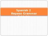 Spanish 2 Repaso Grammar Foldable Asi se dice
