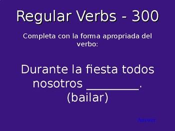 Spanish 2 Repaso Grammar Jeopardy