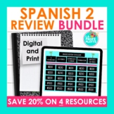 Spanish 2 Review Activities Bundle | End of Year