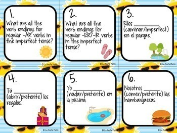 48 Spanish 2 Review Task Cards