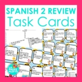 48 Spanish 2 Review Task Cards | Back to School
