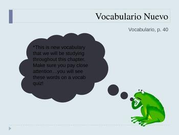 Spanish 2 School Day Vocabulary PowerPoint