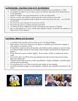 Spanish 2 Semester 1 Culture Review