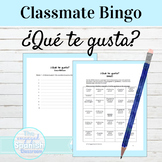 Spanish Back to School Gustar Classmate BINGO