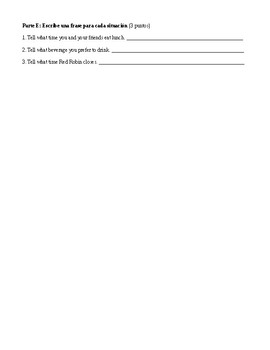 Spanish 2: Stem-Changing Verb Test