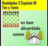 Realidades 2 Chapter 1B 2 Tan/Tanto Practice