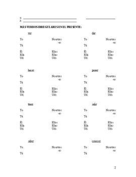 Spanish 2 Verb Practice