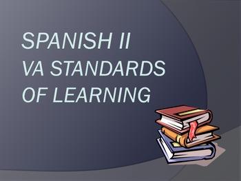 Spanish 2 Virginia (VA) SOL Mini-Posters