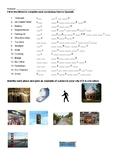 Spanish 2  Vocabulario de la Ciudad