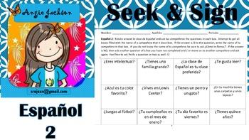 Spanish 2 - seek & find