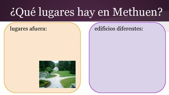 Spanish Writing Practice for City and Town Vocab and the Preterite Tense