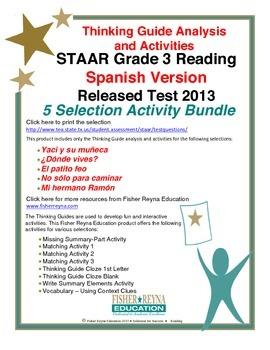 ... Spanish 2013 STAAR Analysis and Activities Bundle, Grade 3 Reading