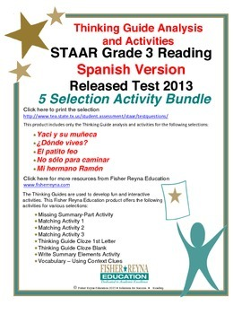 Spanish 2013 STAAR Analysis and Activities Bundle, Grade 3