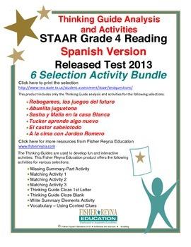 Spanish 2013 STAAR Analysis and Activities Bundle, Grade 4