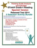 Spanish 2014 STAAR Analysis and Activities Bundle, Grade 4 Reading