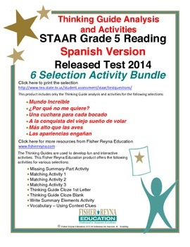 Spanish 2014 STAAR Analysis and Activities Bundle, Grade 5 Reading