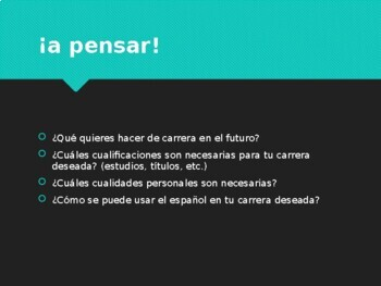 Spanish 21st Century Skills and Careers