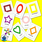 Spanish Shapes Flash Cards. Heart, Circle, Diamond, Square, Octagon, Pentagon...