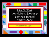 Spanish 2D Shapes Games, and Centers for the SmartBoard Aligned to Common Core