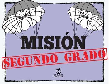 Spanish 2nd Grade Beginning of the Year Activity Spy Themed, Editable