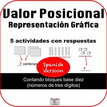 Spanish: 2nd Grade:Place Value Pictorial Representation-Math Centers/IWT/Reteach