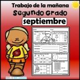 Spanish 2nd  Grade  September Daily Review  Segundo Grado