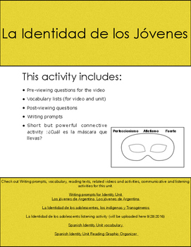 Spanish (3/4) Video and questions about Identity- Short En