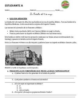 Spanish 3, 4, heritage and AP: 5 de mayo talking activity