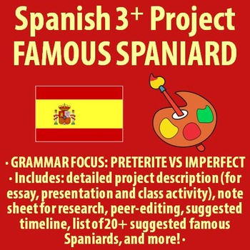Spanish 3+ - BIG Project - Famous Spaniard