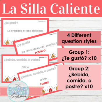 Spanish Food and Informal Commands Hot Seat Game