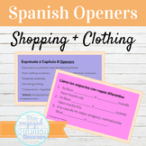 Spanish Clothes and Shopping Class Openers